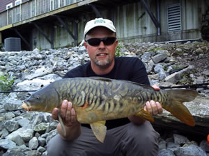 Owner and Club Director Sean Sauda with Mirror Carp #5 for 2010