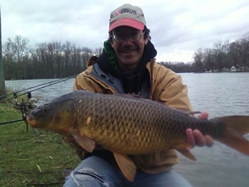 Bill Markle with a 10 lb, 12 oz Common, his first of the season.