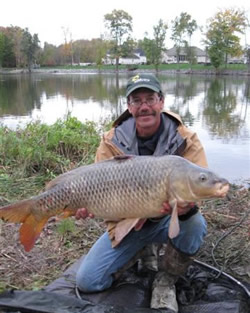 Bill Markle with the Big Fish (27.10 lb) of the 2011 Wild Carp Fall Qualifier in Baldwinsville, NY