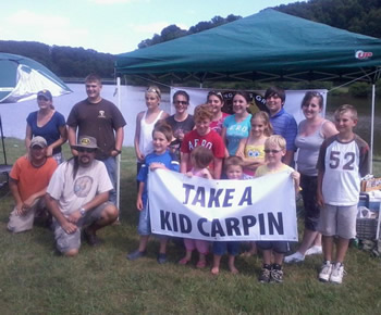 Mike Turpin has hosted two _Take a Kid Carpin_events and looks forward to hosting more.