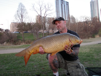 Scott Ferguson with a 31 lb, 4 oz common