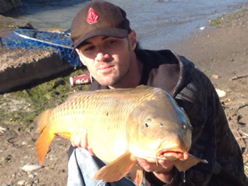 Wild Carp Club of Ontario Director Brian Brown with a nice common carp